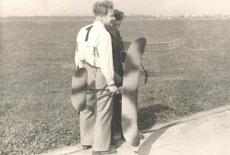 1947 - Zdeněk Husička s Bečičkou na CMZ v Otrokovicích