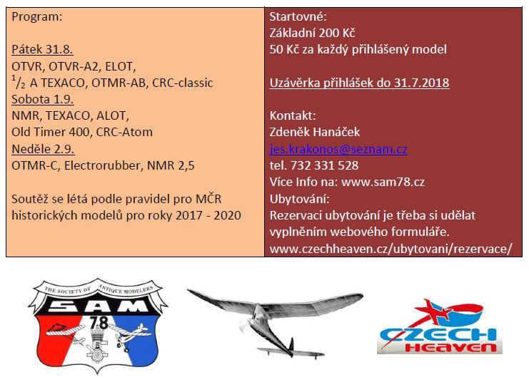 Pozvánka MČR 2018